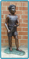 Bronze Fountain Boy with Hose