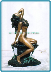Bronze Hawaian Girl Statue Fountain