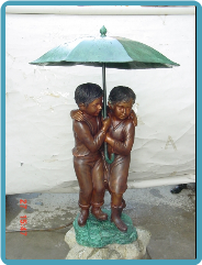 Bronze Children Fountains