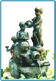 5 Children Fountain (standing and sitting on rock