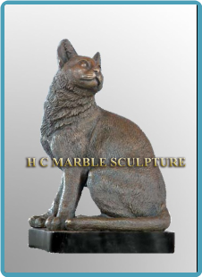 Bronze Cat Decorative Sculpture