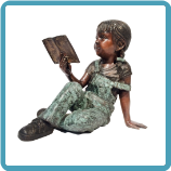 Bronze sculpture Girl Reading Book