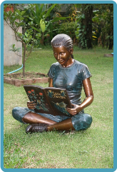 Bronze Children Garden Statues