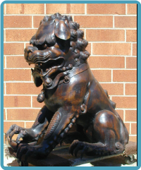 Bronze Chinese Lions Sculpture