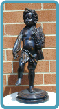 Bronze Statue Boy with Ear