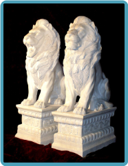 Marble Animal Lions