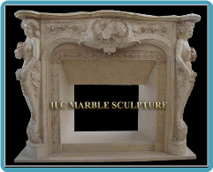Marble Mantle Two Woman Figures Violin Centered