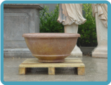 Round Smooth Sienna Marble Planter