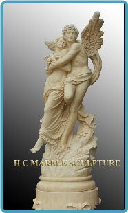 Male Angel Holding Woman Standing on Base, Guiding the way!