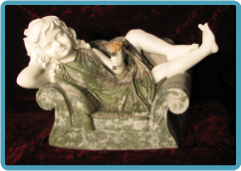 Marble Sculpture of Girl Day Dreamer