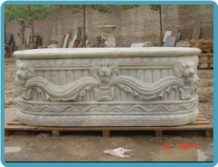 Lion Marble Bathtub
