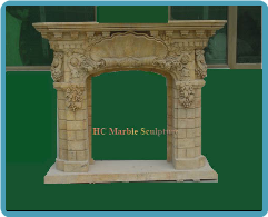 Marble Mantle Brick Design