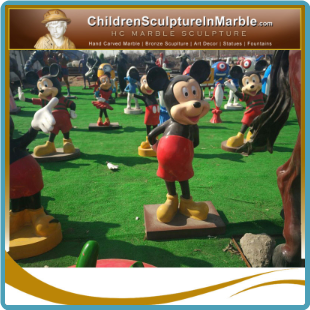 Mickey & Minnie Mouse Fiberglass Statues