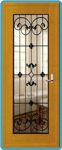 Wrought iron door panel 3