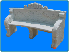Marble Bench with Back Rest