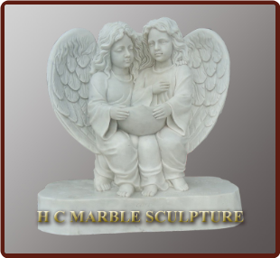 Custom Marble Statue 2 Angels