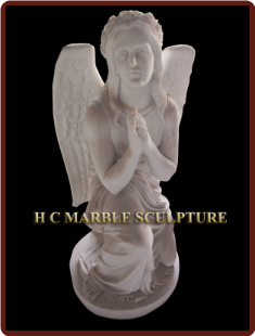 Marble Statue of Angel Praying