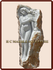 Unique Sculpture Nude Maiden carved standing inside rock (2).