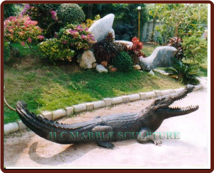 Bronze Alligator Fountain