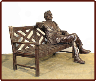 Bronze Life Size Statue The Story Teller