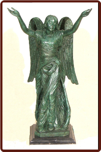 Standing Angel Med. With Marble base