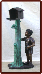 Standing Boy with Mailbox