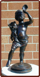 Bronze Statue Boy with Shell
