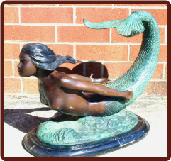 Bronze Mermaid Coffee Table