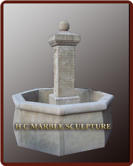 Limestone Marble Fountain High Base