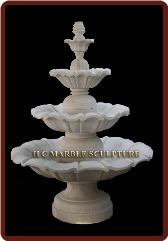 Marble 3 Tier Garden Fountains