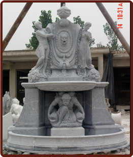 Wall Fountain 2 Tier w/ Figures