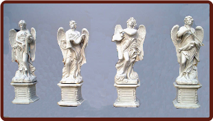 Saint Angelo's Angels Statues Set W/ Base