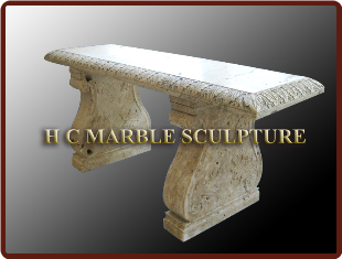 Rectangle Side Marble Table