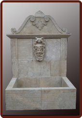 Marble Wall Fountain Man