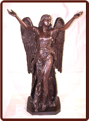 Bronze Standing Angel (Large Brown)