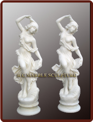 Maiden Dancers in Best White Marble