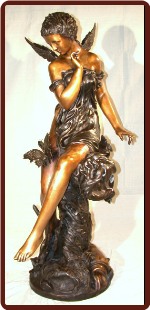Angel Woman with Butterfly Bronze Fountain