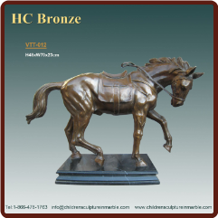 * SMALL STATUES - BRONZE TABLE TOP STATUES (2)