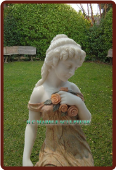 Jessica; Custom Maiden Marble Statue Fountain
