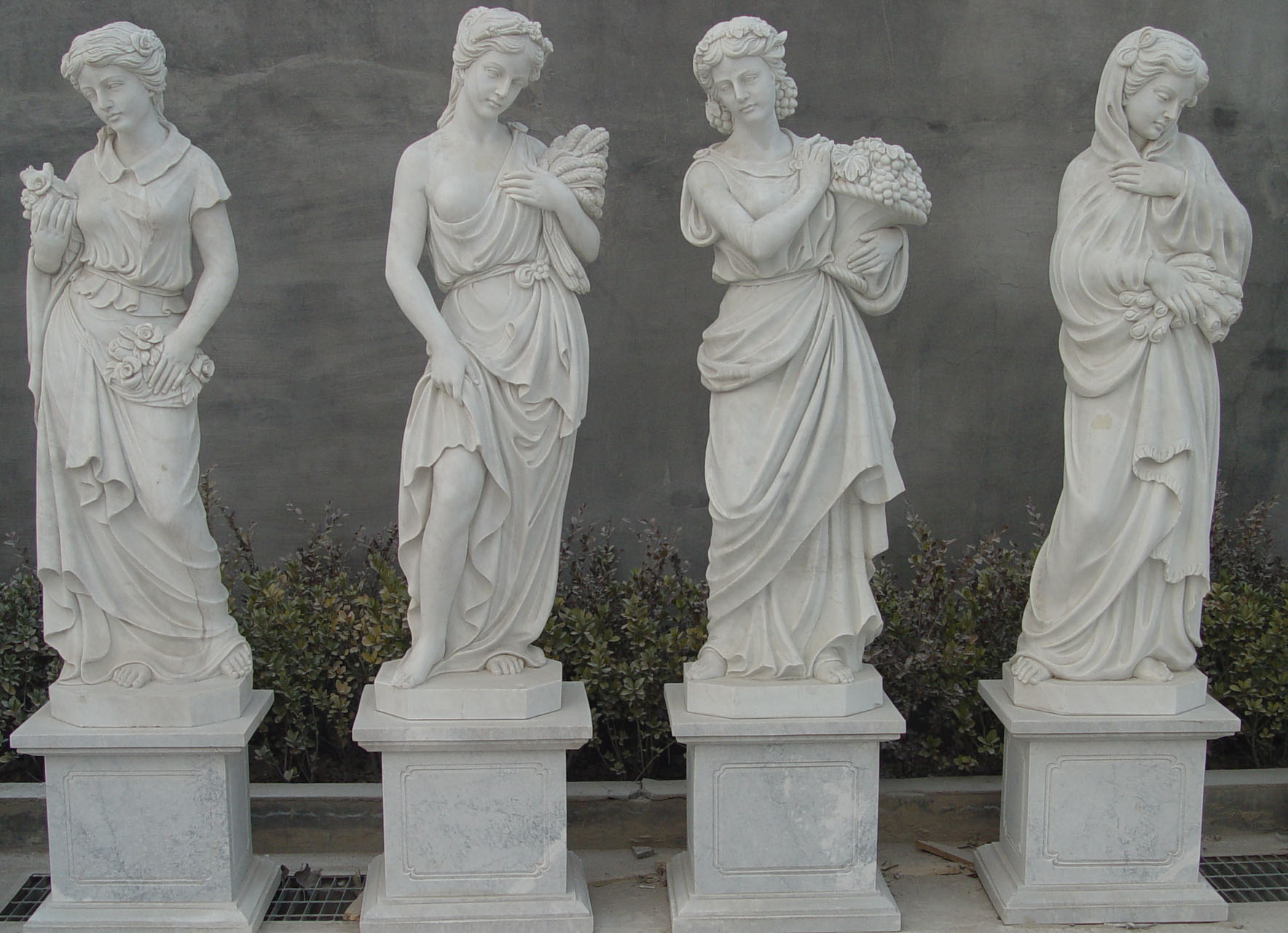 Four Seasons Hand Carved Marble Statues St Angelo 39 S