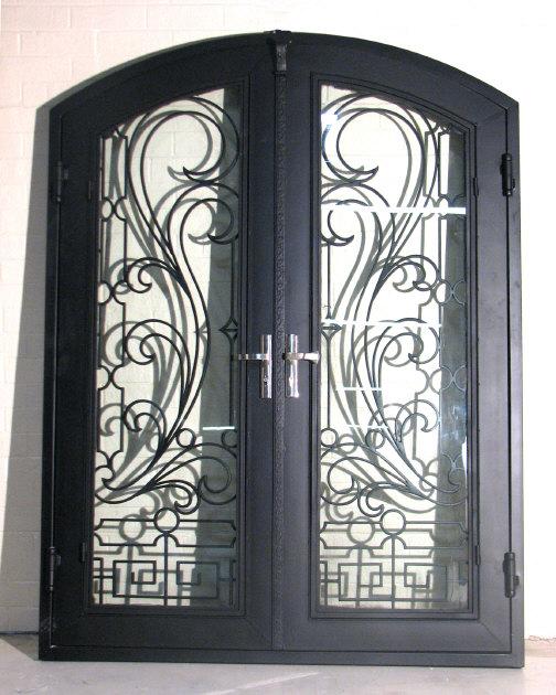 Double Door Black Contemporary